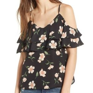 Lydelle Ruffle Overlay Top Size S